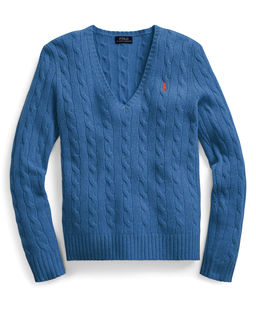 Niebieski sweter z domieszką kaszmiru