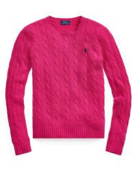 Różowy sweter z domieszką kaszmiru
