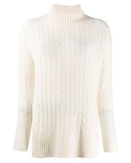 Vlněný svetr s rolákem
