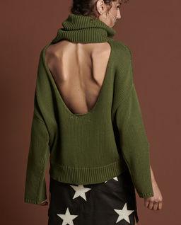 Zielony sweter z golfem Winona
