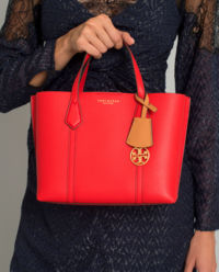 Czerwona torba ze skóry Perry