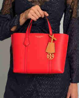 Červená kožená kabelka Perry