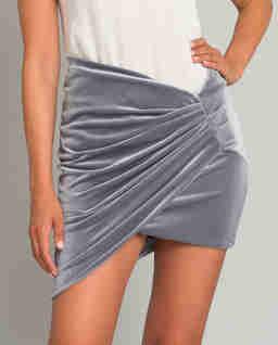 Šedá mini sukně