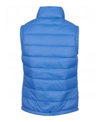 Modrá, péřová vesta