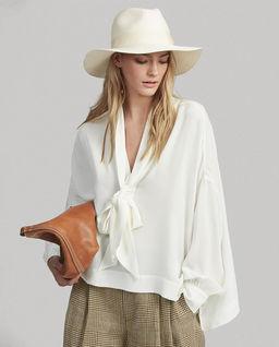 Luźna koszula z jedwabiu