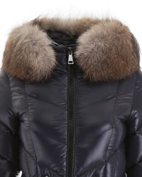 Granatowy płaszcz puchowy Fulmarus