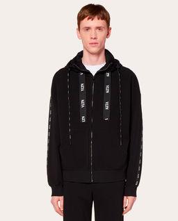 Czarna bluza z kapturem VLTN