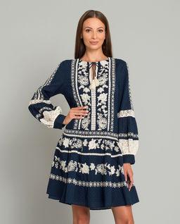 Granatowa sukienka boho