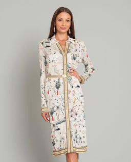 Sukienka koszulowa z domieszką jedwabiu