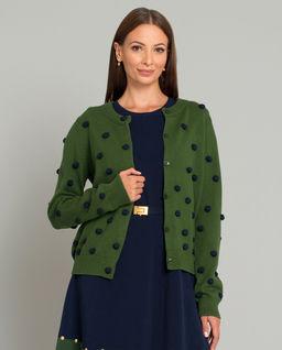 Zelený vlněný kardigan