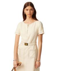 Beżowa sukienka z lnu