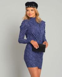 Fialové šaty s levhartím vzorem
