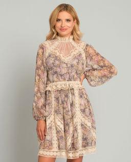 Jedwabna sukienka z koronką