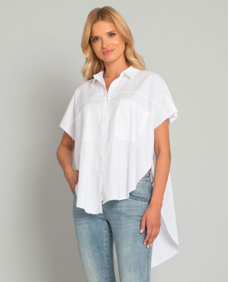 Asymetryczna biała koszula