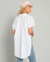 Asymetrická bílá košile