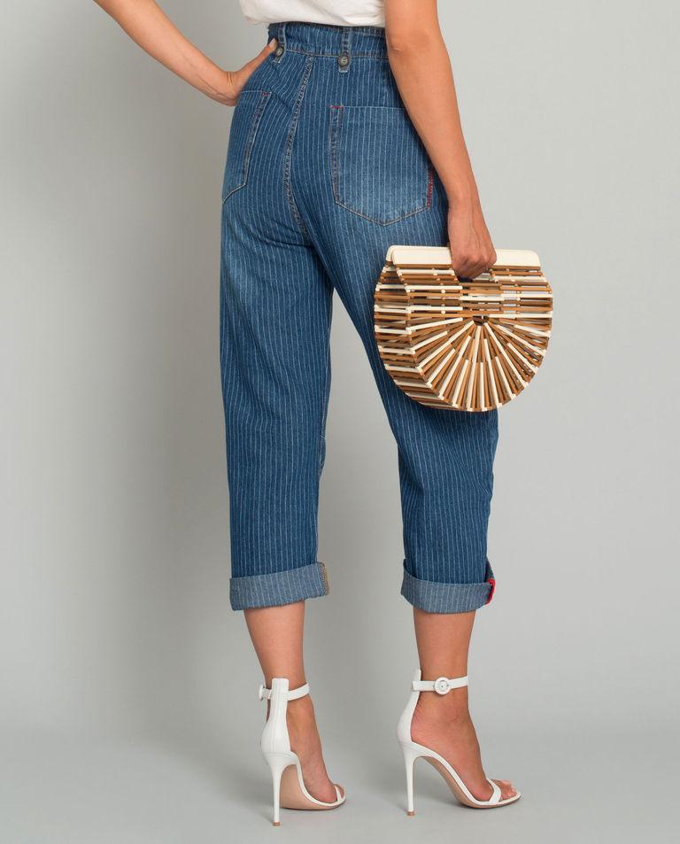 Jeansy w paski