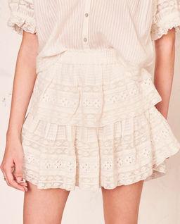 Krajková mini sukně