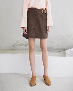Brązowa spódnica Yeva