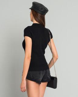 Czarna wełniana bluzka
