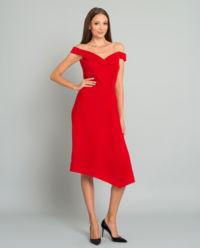 Czerwona sukienka z wełny