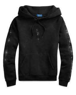 Černá mikina s korálky