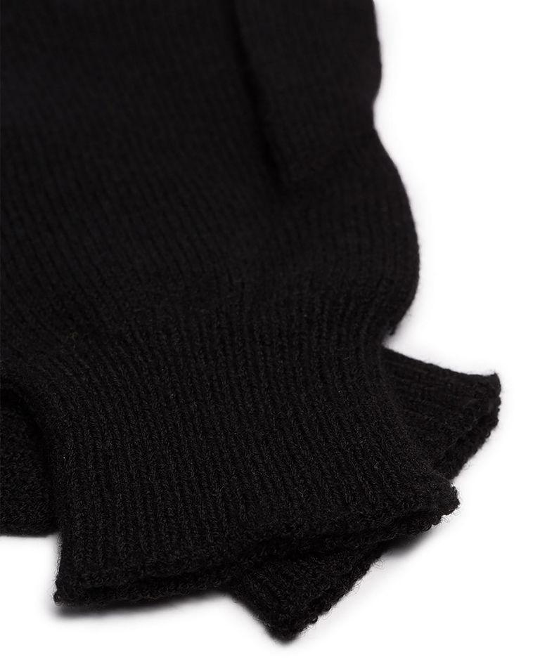 Czarne rękawiczki z wełny