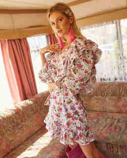 Sukienka z falbanami Virginia
