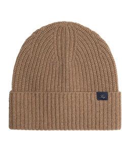 Beżowa czapka z kaszmiru