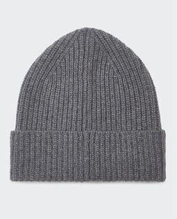 Szara czapka z kaszmiru