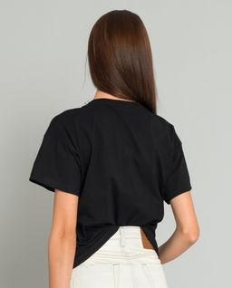 Czarny t-shirt z motywem psa