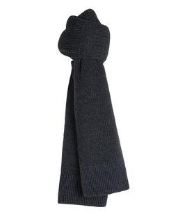 Szary szalik z wełny