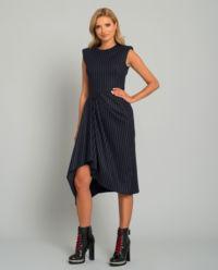 Asymetrické midi šaty
