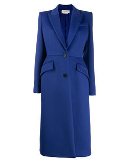 Niebieski płaszcz z wełny