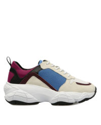 Kolorowe sneakersy z zamszu