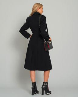 Černý vlněný kabát