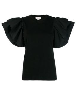 Bluzka z marszczonymi rękawami