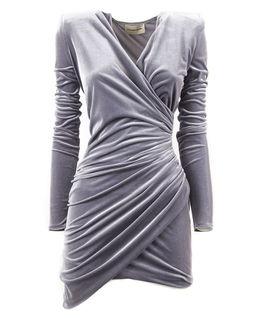 Šedé mini šaty