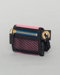 Růžová peněženka s logem