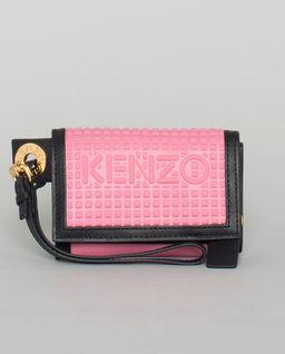 Różowy portfel z logo