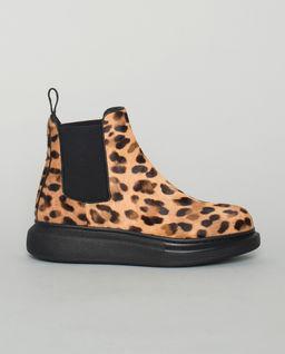 Buty za kostkę w cętki