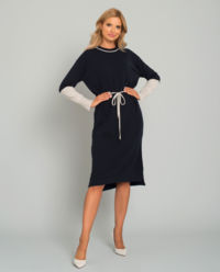Grantowa sukienka z wiązaniem