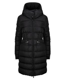 Czarny płaszcz puchowy Betulong