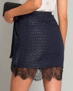 Granatowa spódnica mini