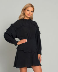 Mini šaty s hedvábím