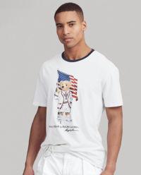 Biały t-shirt z misiem