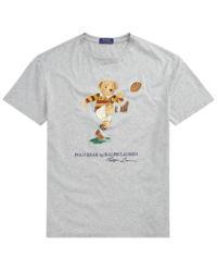 Szary t-shirt z misiem