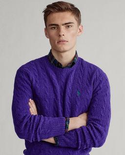 Fioletowy sweter z wełny