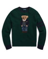 Wełniany sweter w misiem