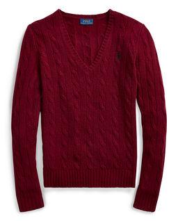 Bordowy sweter z wełny