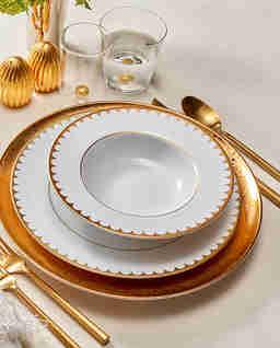 Talerz obiadowy ze złotem Aegean